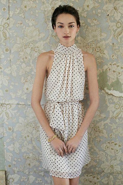 Deja Dot Dress Anthropologie July 2013 stylist personal fashion blogger