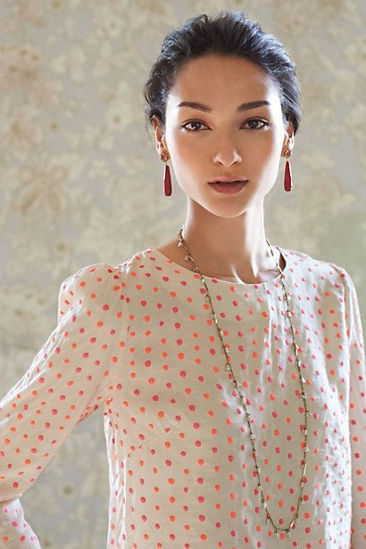 Lumine Dot Blouse Anthropologie July 2013 Stylist Top Picks Personal Washington DC Image Consultant