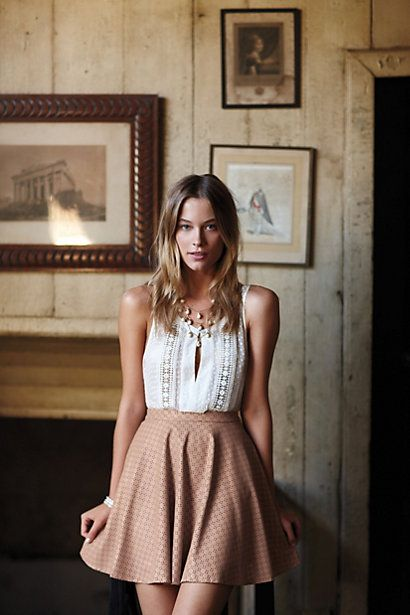 Anthropologie Sugared Lattice Blouse and Astral Swing Skirt Cover Shot July 2013 Stylist Fashion Personal Blogger