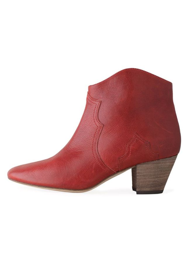 ISABEL MARANT DICKER BOOTs red Bordeaux Stylist picks