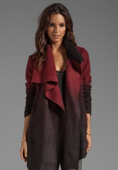 BB DAKOTA Amber Ombre Fuzzy Melton Coat Stylists picks
