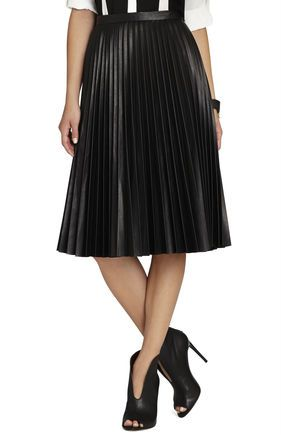 BCBG ELSA SUNBURST-PLEATED SKIRT Stylists pick