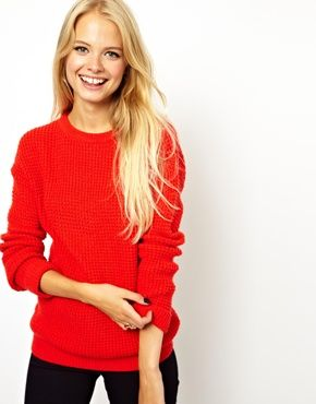 ASOS Chunky Red Sweater Stylist pick