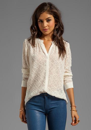 Rebecca Taylor Clip Dot Blouse stylist's pick