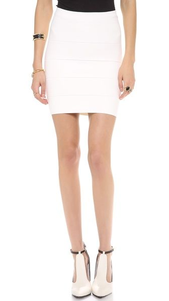 BCBG Simone Power Skirt White