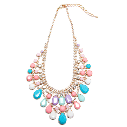 Luxe Pastel Bib Necklace