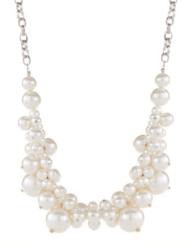 CATHERINE STEIN Faux Pearl Bauble Necklace